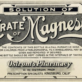 free vintage clip art citrate of magnesia medicine label ostrom pharmacy