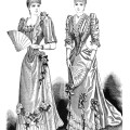 victorian lady clip art, antique fashion illustration, black and white vintage clipart. elegant lady printable. old fashioned woman's clothing