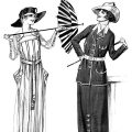 Free vintage lady clip art 1917 war time fashion