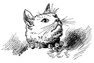 Free vintage cat clip art illustration