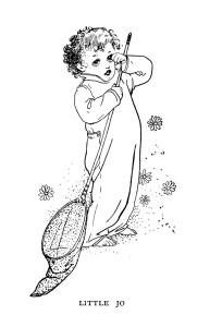 Free vintage storybook character little boy clip art illustration