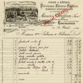 free vintage French invoice digital download