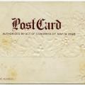 free vintage postcard, antique postcard back, grungy paper clip art, shabby paper graphics, old postcard image