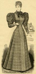 Free vintage lady clip art illustration