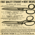 Free vintage sewing scissors advertisement clip art