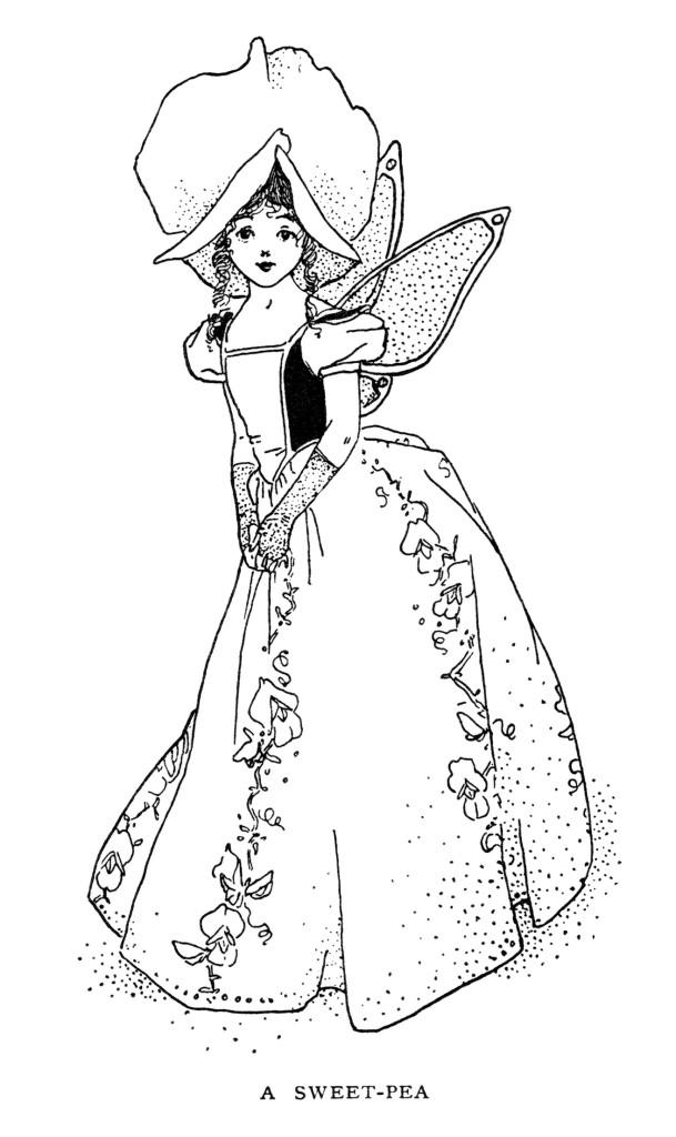sweet pea storybook character