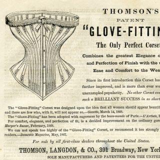Free vintage clip art Thomsons corset magazine advertisement