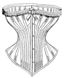 Free vintage clip art Victorian corset