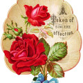 victorian rose clipart, vintage clip art fan, red rose graphics, free digital floral image, antique greeting card