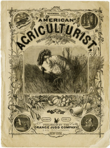 antique magazine cover, american agriculturist cover page, shabby digital graphics, vintage turkey illustration, old fashioned Thanksgiving image