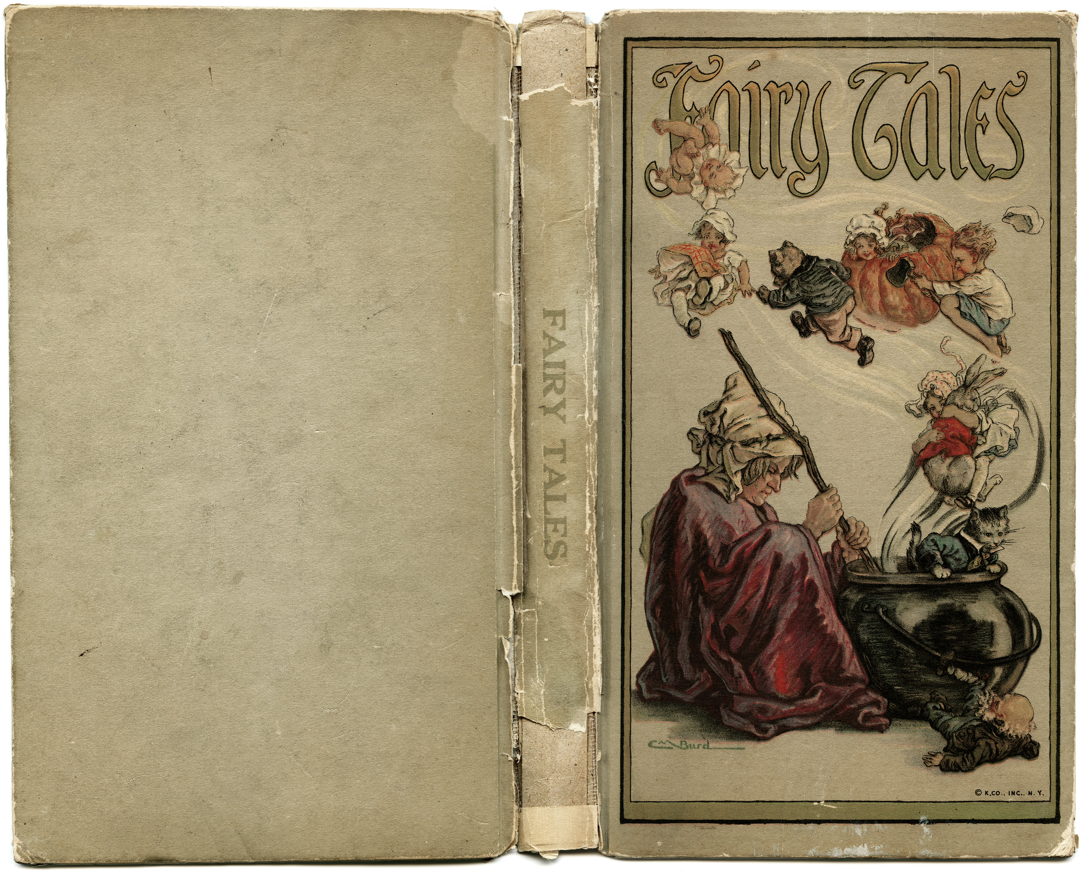 Free vintage image fairy tales book cover old design for Fairy tale book cover template