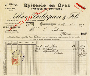 vintage French invoice, digital French receipt, antique accounting, old paper graphic, aged ephemera free
