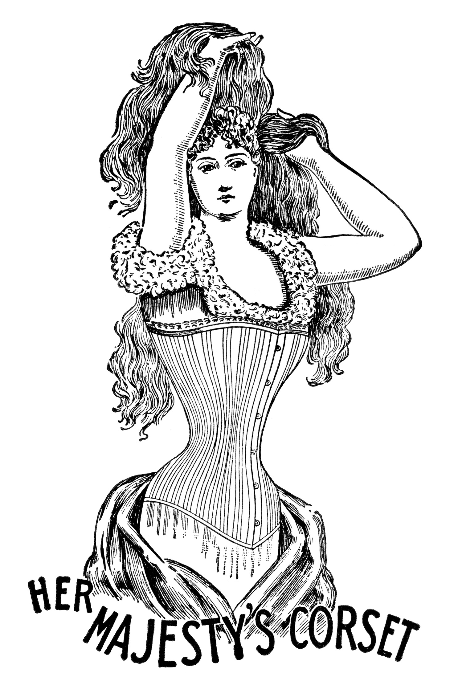 Her Majesty S Corset Free Clip Art Old Design Shop Blog