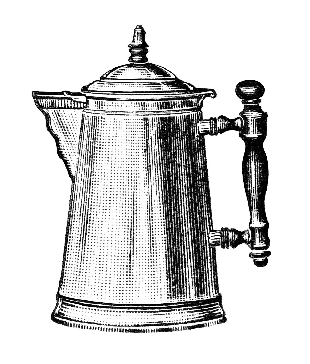 Free Vintage Coffee Pot Clip Art - Old Design Shop Blog