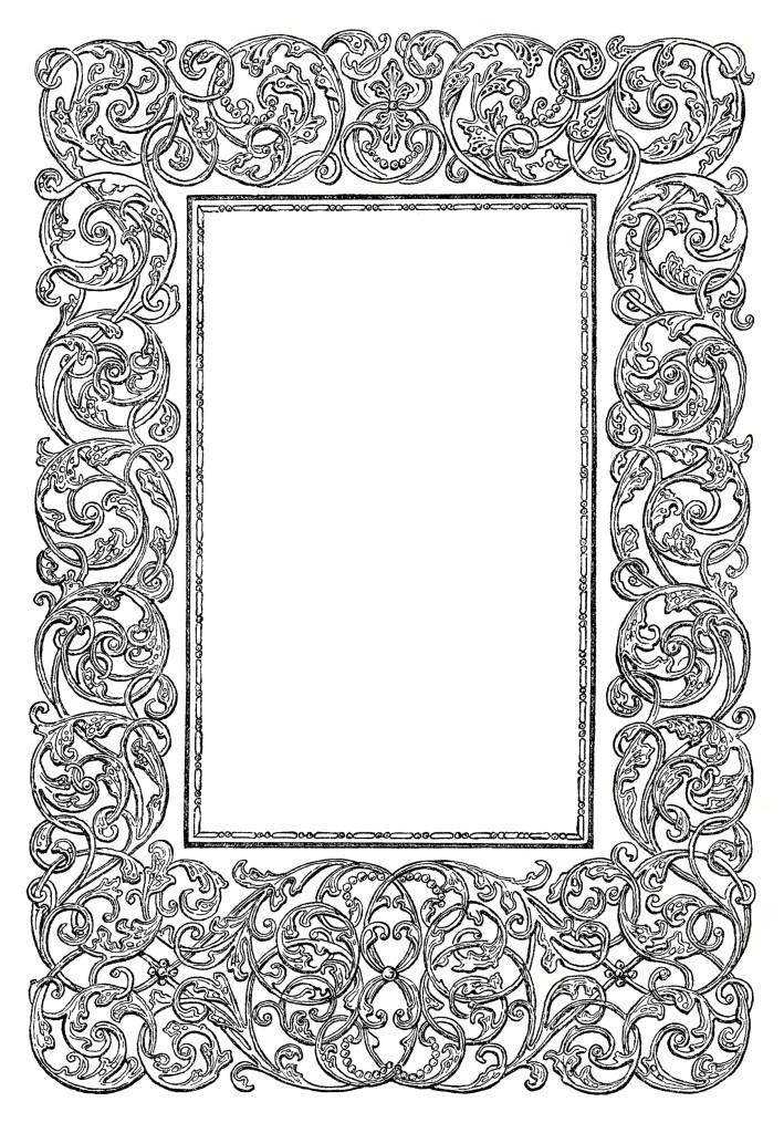 Free Vintage Image Ornate Swirly Frame Clip Art | Old Design Shop Blog