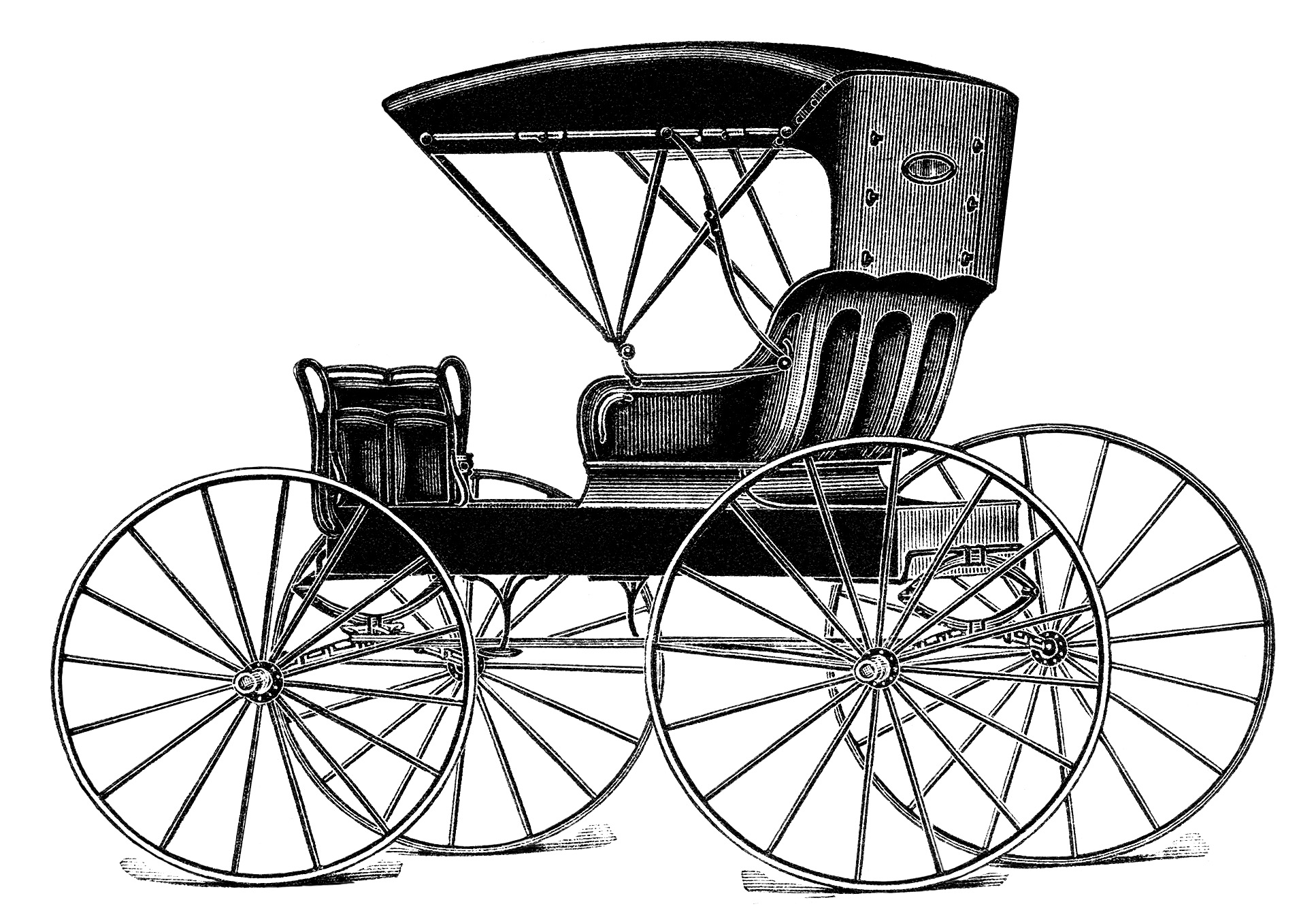 Horse drawn buggy free vintage clip art old design for Car carriage