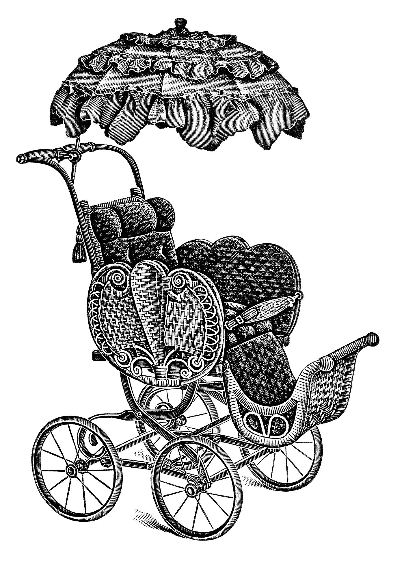 baby strollers free vintage clip art old design shop blog