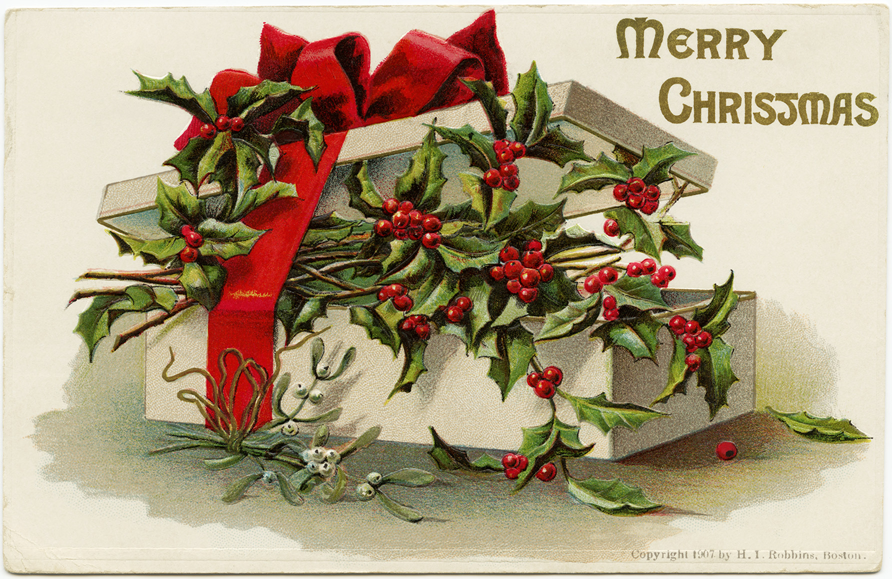 Holly and Berries ~ Free Christmas Image - Old Design Shop Blog