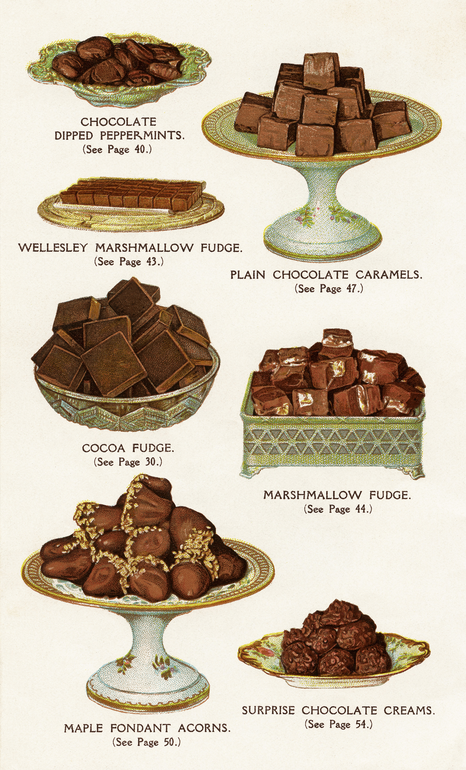 Free Vintage Image Chocolate and Cocoa Recipes Book Page