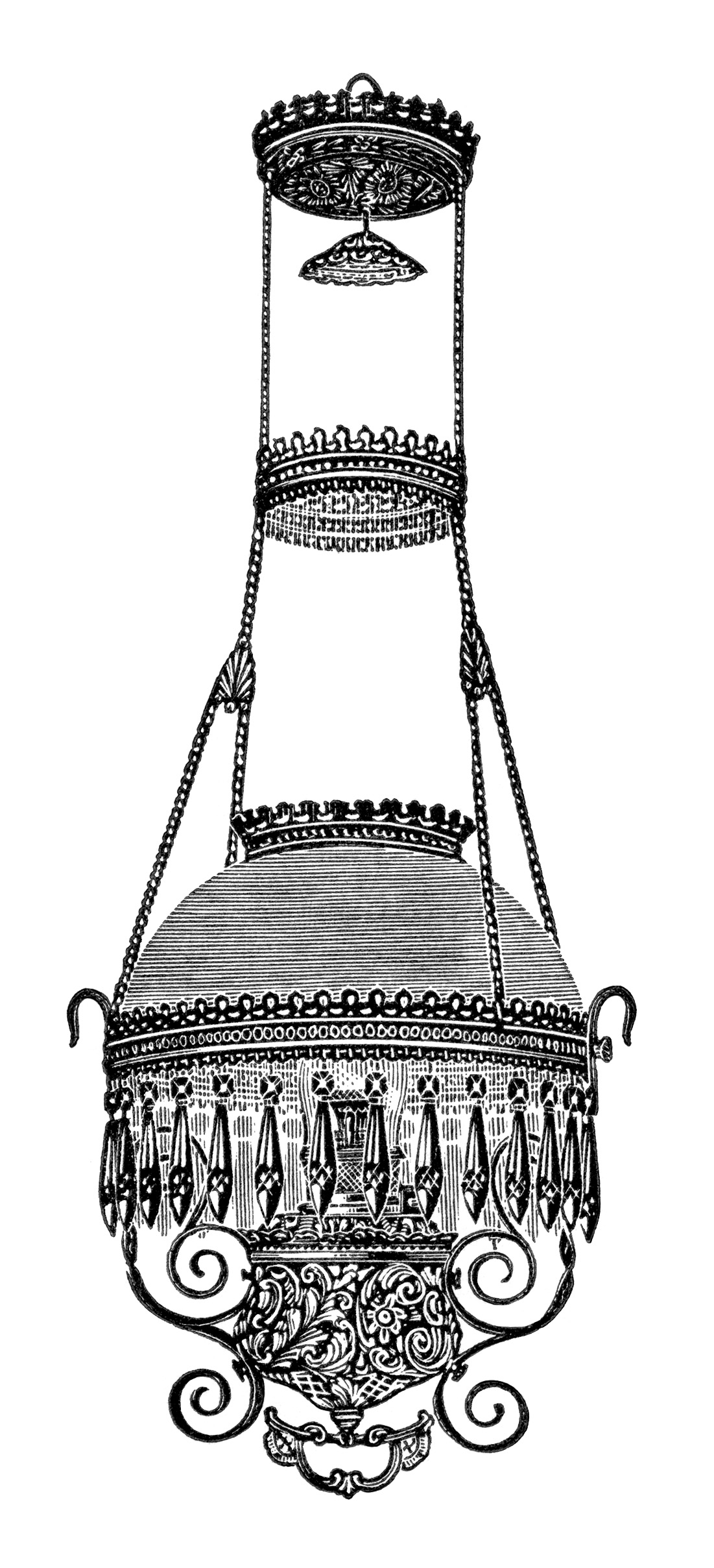 Best Victorian Chandelier Image Vintage Lamp Clip Art Black And White Clipart Free With Post
