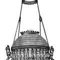 Victorian chandelier image, vintage lamp clip art, black and white clipart, free vintage image, digital lamp graphics, extension hanging lamp illustration