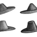 victorian felt hat image, vintage hat clipart, pilgrim hat illustration, black and white free clip art, old fashioned hat
