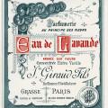 vintage french label, French ephemera graphic, antique beauty clipart, eau de lavande perfume label, Jn Giraud Fils