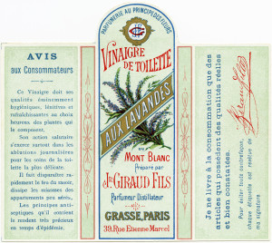 jn giraud fils, vintage French perfume label, vinaigre de toilette aux lavandes, antique perfume graphic, printable French ephemera