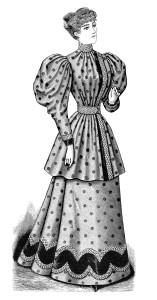 free vintage clip art Victorian lady printable