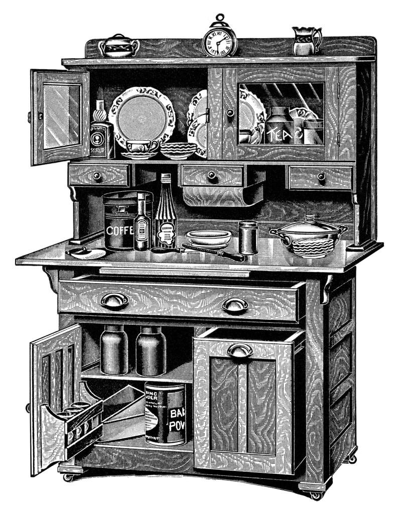 Kitchen Cabinets Free Vintage Clip Art Old Design Shop Blog