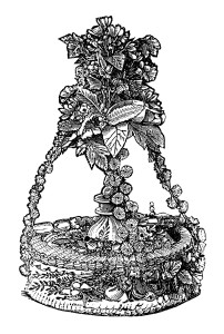 mrs beetons bride cake, antique wedding cake image, vintage cake clip art, black and white free clipart, food sweet dessert graphic