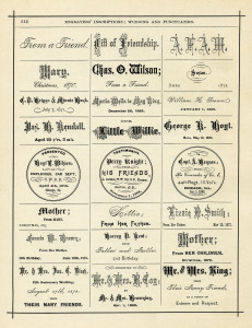 antique book page digital download, engravers inscriptions, engraving examples for ring spoon watch, vintage frame clip art, free black and white clipart