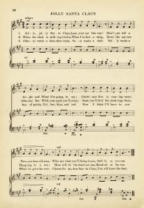 jolly santa claus free printable vintage sheet music