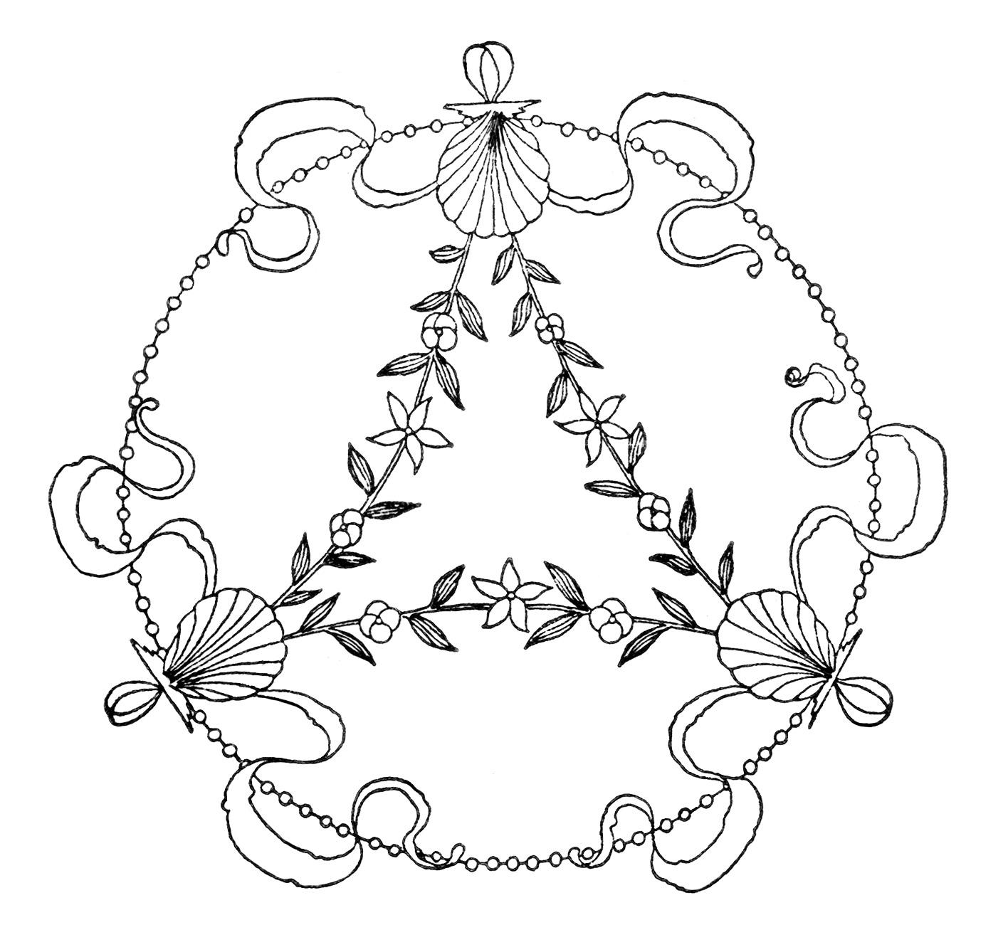 Free Clipart Vintage Embroidery Designs Old Design Shop Blog