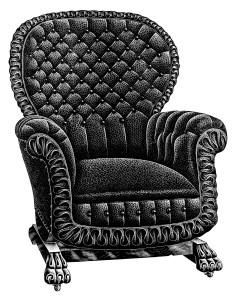 turkish rocker image, vintage chair clipart, free black and white clip art, antique catalogue page, old fashioned furniture illustration