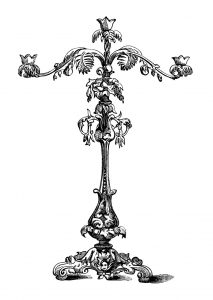 candelabra clip art,free vintage image,antique candelabra engraving,victorian candle holder,black and white clipart