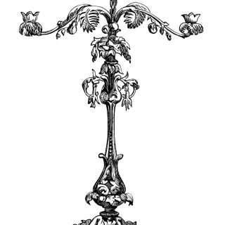 candelabra clip art,free vintage image,antique candelabra engraving,victorian candle holder,black and white clipart