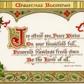 vintage christmas postcard, christian christmas image, religious Christmas message, holly berries clipart, old fashioned printable card