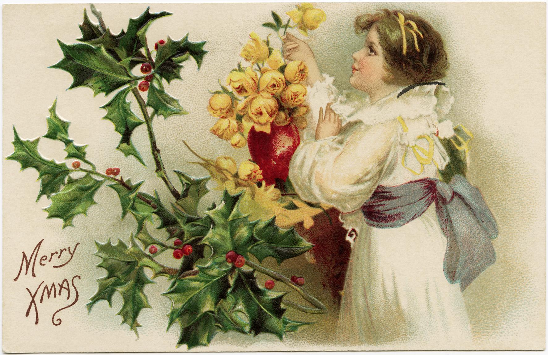 Прикольные картинки, рождество открытки винтажные