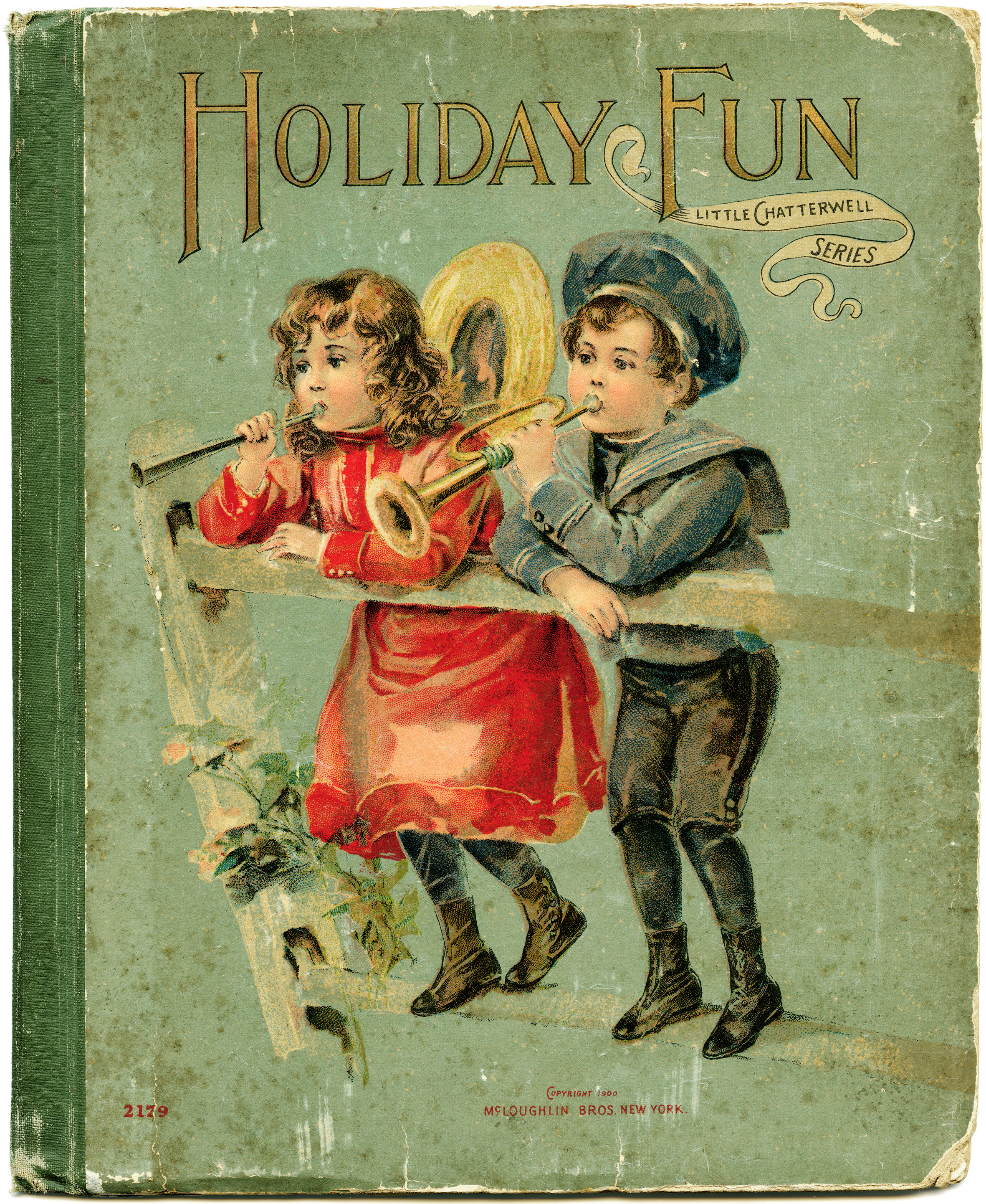 Vintage Children S Book Cover Art ~ Holiday fun cover oage old design shop