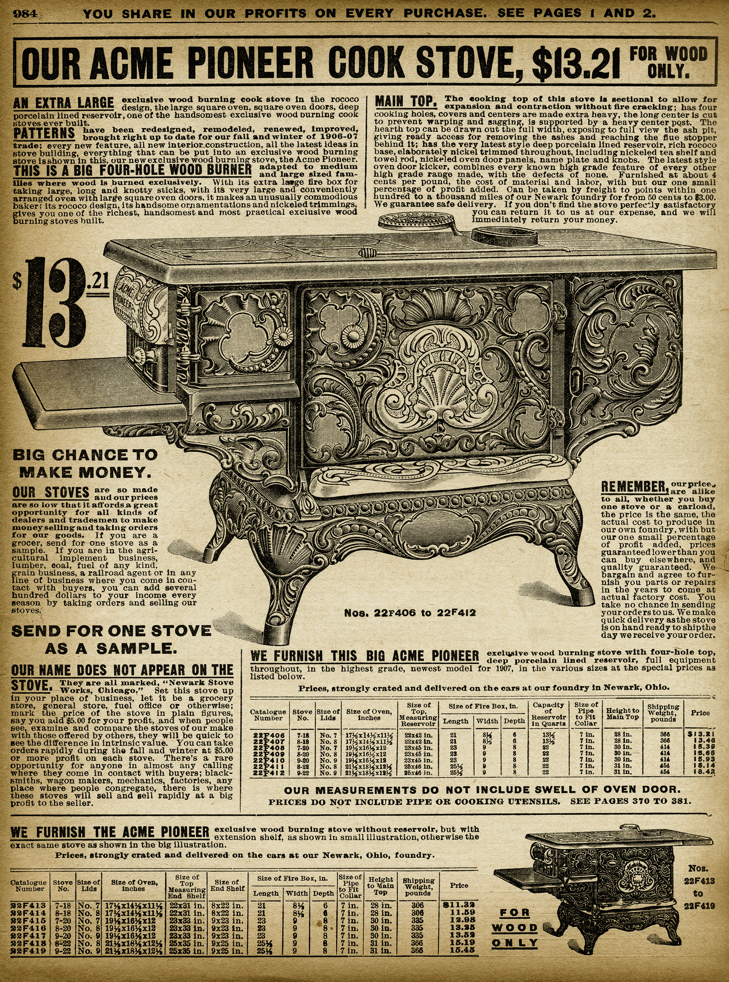 Vintage Stove Clipart Black And White Clip Art Sears Roebuck Catalogue Page Aged