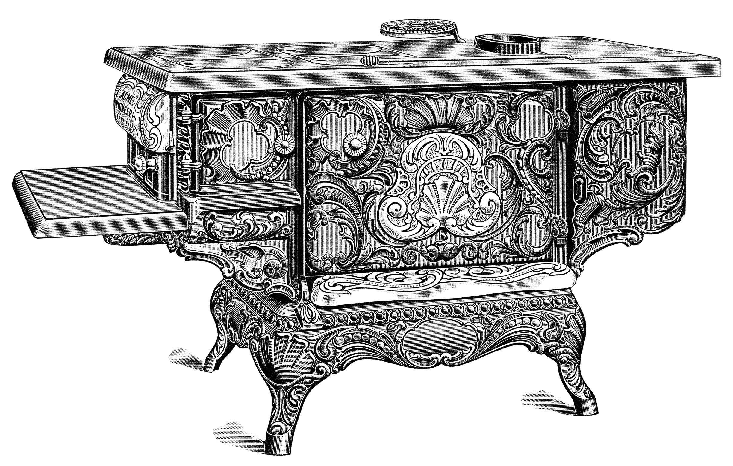 Old Stove Catalogue Page And Clip Art Old Design Shop Blog