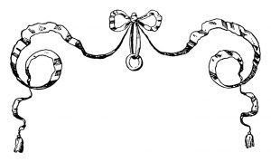 vintage bow clipart,black and white clip art,ornamental ribbon,handbook of ornament,franz meyer