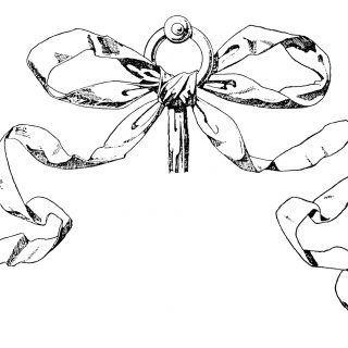 vintage bow clipart,black and white clip art,ornamental ribbon,handbook of ornament,franz meyer