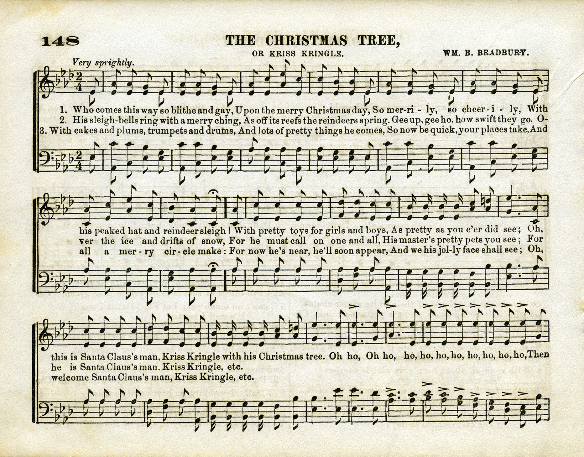 The Christmas Tree Sheet Music - Old Design Shop Blog