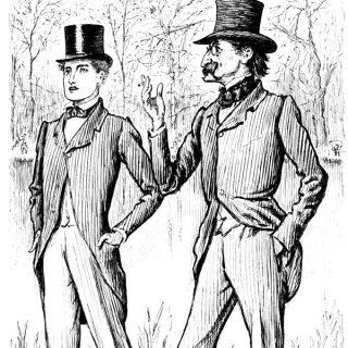 Victorian men free vintage clip art illustration