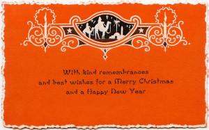 Free vintage printable wise men Christmas card