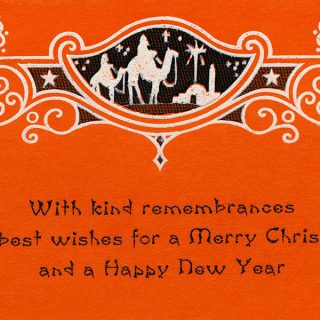 Free vintage printable wise men Christmas card