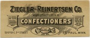 Free vintage clip art confectioners card Ziegler Reinertsen