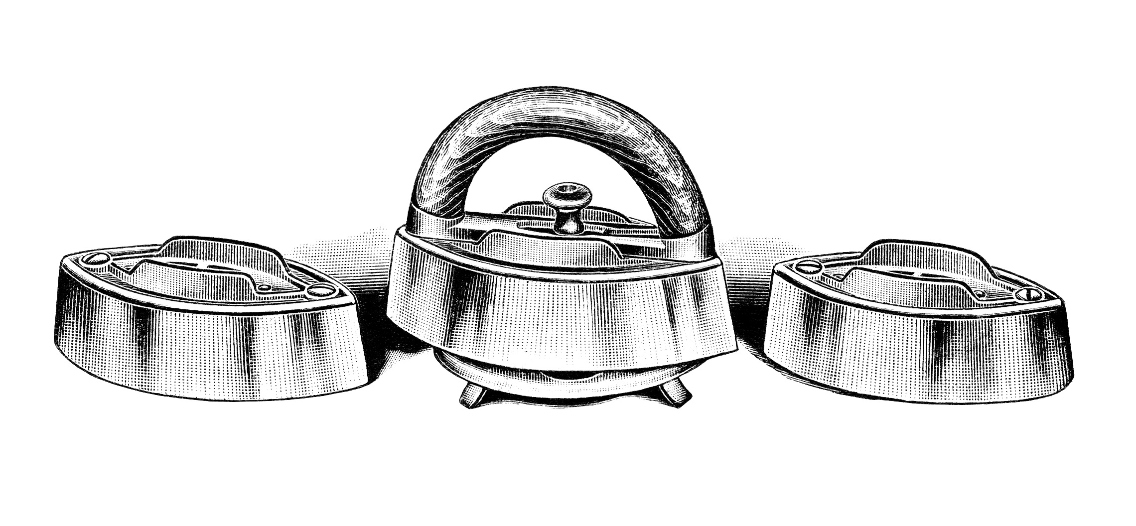 vintage laundry clipart, old fashioned iron image, antique catalog ad, black and white clip art, vintage clothing iron illustration
